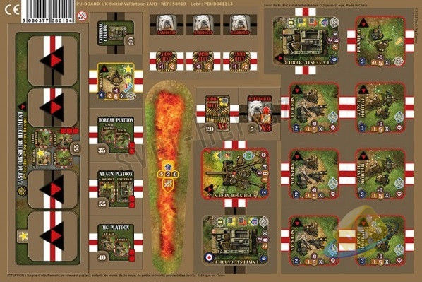 Heroes of Normandie: British Platoon Punch Board