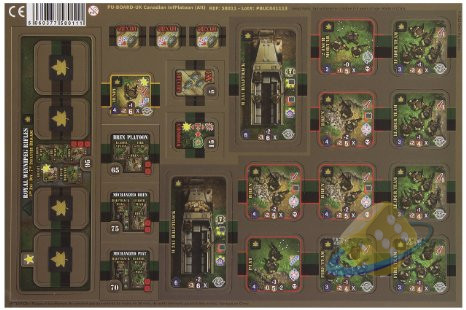 Heroes of Normandie: Canadian Platoon Punch Board