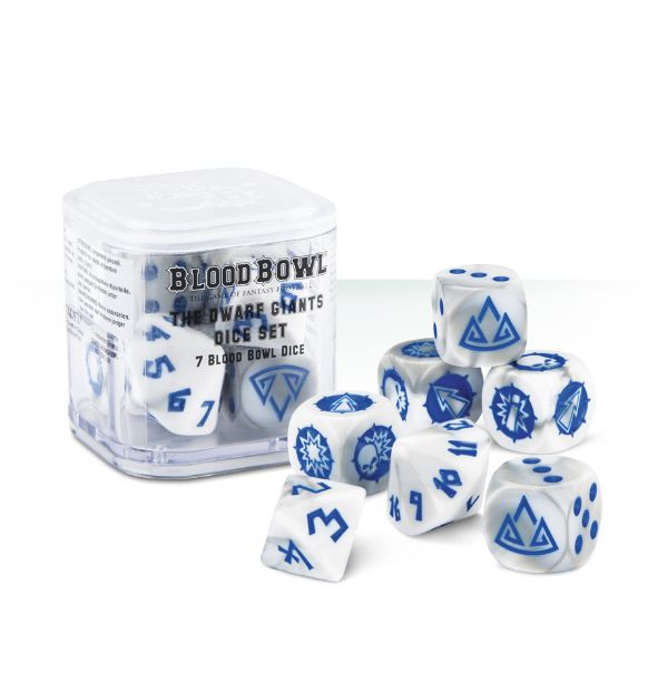 Blood Bowl Dwarf Giants Dice (kostky)