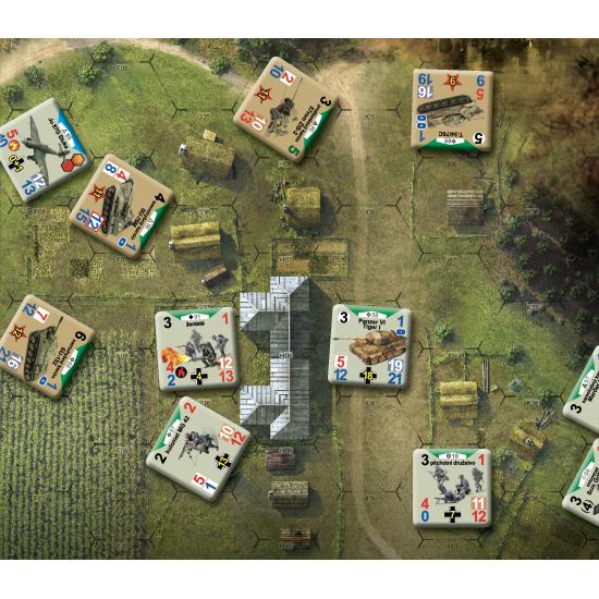Fox in the Box Conflict of Heroes Bouře oceli herní plocha