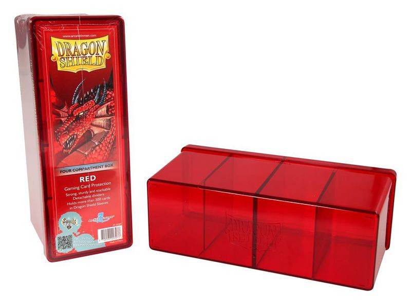 Dragon Shield 4-Compartment Card Storage Box - Red - pořadač na karty