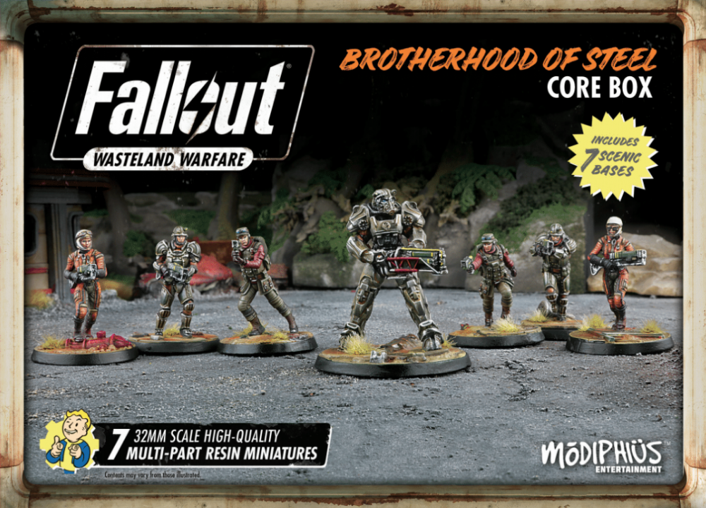 Fallout: Wasteland Warfare Brotherhood of Steel core box