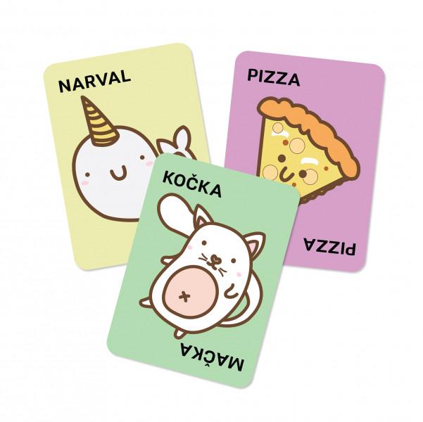 Albi Taco, kočka, koza, sýr, pizza karty