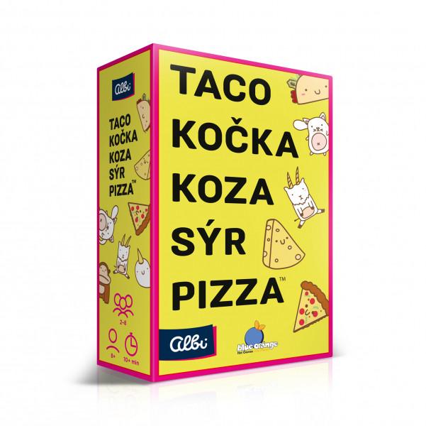 Albi Taco, kočka, koza, sýr, pizza krabice