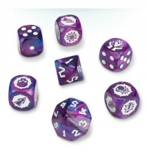 Blood Bowl Dark Elf Dice Set (kostky)