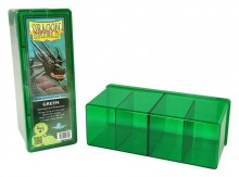Dragon Shield 4-Compartment Card Storage Box - Green - pořadač na karty
