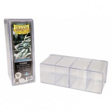 Dragon Shield 4-Compartment Card Storage Box - Clear - pořadač na karty