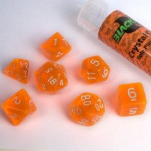 Kostka Blackfire Dice - Sada 7 kostek 16mm pro RPG (Crystal Orange)
