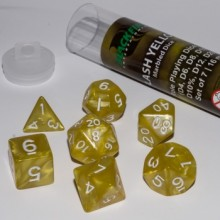 Kostka Blackfire Dice - Sada 7 kostek 16mm pro RPG (Flash Yellow)