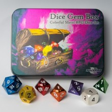 Kostka Blackfire Dice - Sada 7 kostek RPG Dice Gem