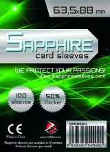 Obaly na karty Sapphire Green - Standard Card Game 100 ks
