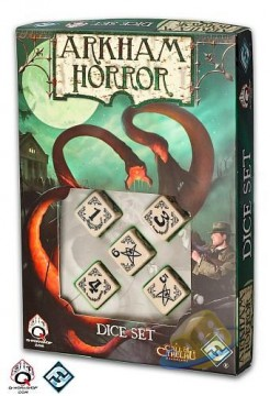 Arkham Horror Dice Set: Beige and Black