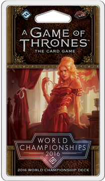 A Game of Thrones LCG (2nd) - 2016 World Champion Deck