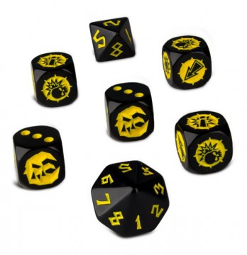 Blood Bowl Goblin Team Dice (kostky)