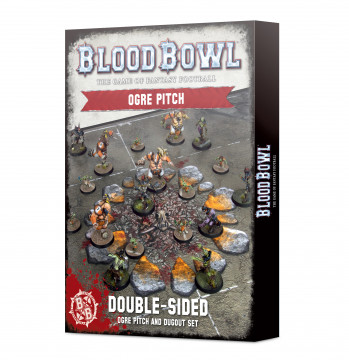 Blood Bowl Ogre Team Pitch & Dugouts (hřiště)