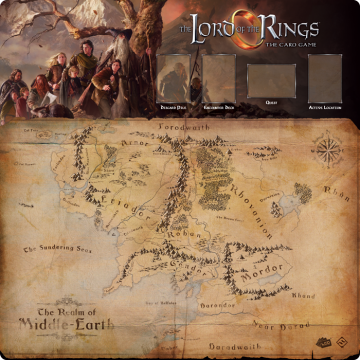 Lord of the Rings LCG: The Card Game - Fellowship 1-4 player Gamemat (herní podložka)