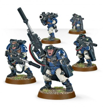 Space Marines: Scouts with Sniper Rifles