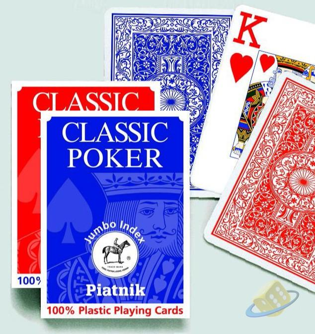 Sada karet Piatnik Plastic Poker 100% Jumbo Index