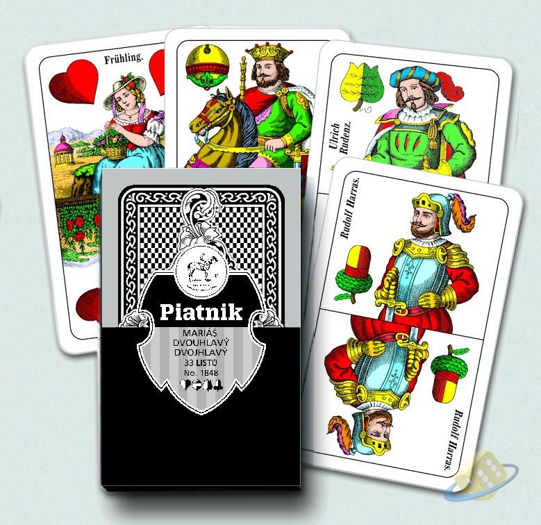 Mariáš - dvouhlavé karty