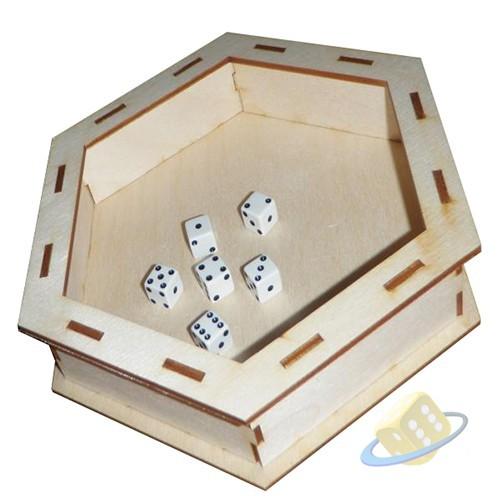 Hrací plato na kostky - dřevo (Dice Tray)