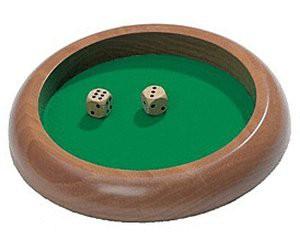 Hrací plato na kostky - dřevo a plátno,menší (Dice Tray)