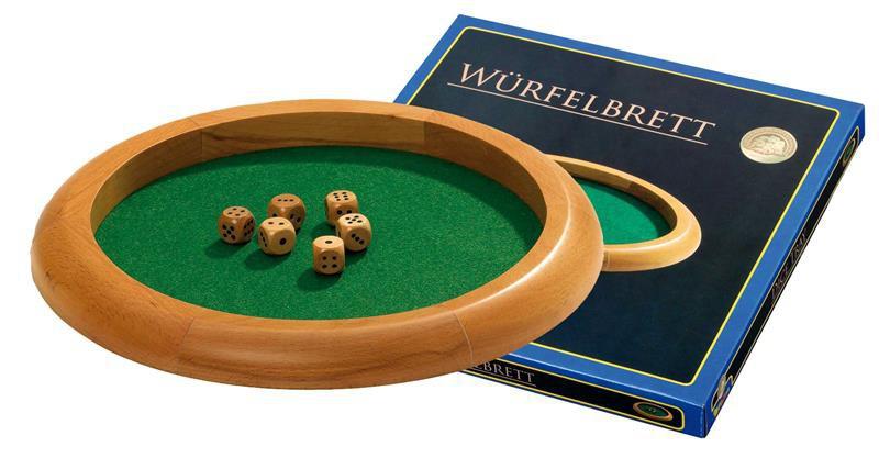 Hrací plato na kostky - dřevo a plátno,vetší (Dice Tray)